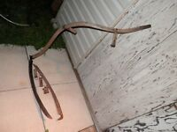Old Grass Scythe w/ Wooden Handle & Replacement Parts