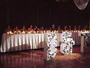 1.2m Floral Letters - $50 a letter Exquisite Wedding Centrepiece Sylvania Sutherland Area Preview