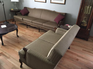 french provincial sofa and loveseat