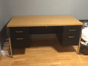 Free metal desk, coffee table & front room chair