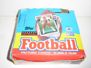 8 BOXES OF VINTAGE NFL FOOTBALL CARDS - 1 OWNER - EXCEL. COND.
