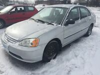 2002 Honda Civic 4 door sedan manual transmission