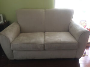 Pair of Love seat  and regular microfiber Couch