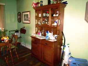 China Cabinet solid Maple.