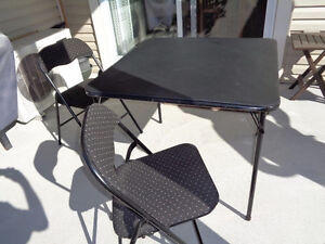 High quality folding table and chairs.