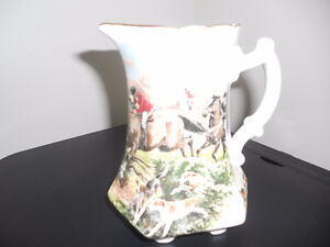 Royal StaffordshireBone China Fox Hunt Pitcher