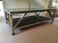 Chrome and Glass Eincholz Coffee Table