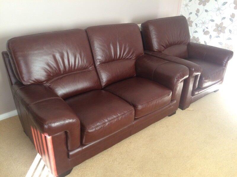 Bardi Diamante Range Leather 2 Seater Sofa And Chair As