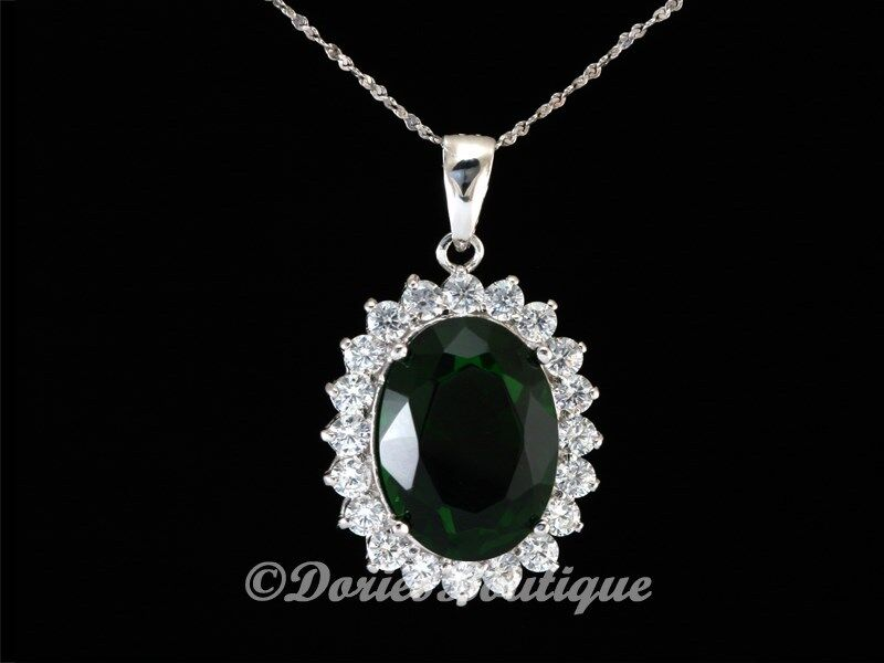 Sparkling emerald green oval 925 sterling silver cz for Z s fine jewelry