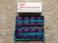 Body Sculpture Ankle / Wrist Weights (2 x 1kg weights)
