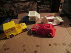 4 diff Sesame Street vehicles Cookie Monster, Oscar, Fire Truck