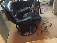 Black leather chairs 50 for both or 30 a piece