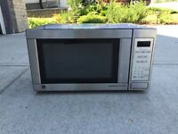 GE 1500 watt stainless steel microwave