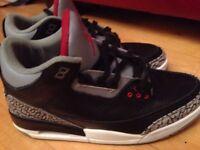 Air Jordan 3 black cement size 9.5