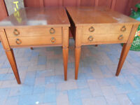PAIR OF SOLID WOOD END TABLES ONLY $75 NO TAX