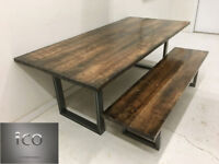 Custom Kitchen Tables  Office and  with Natural finished Tops