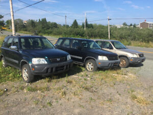 Three Honda CRVs For Sale