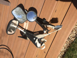 Set of two McKesh strap-on towing mirrors