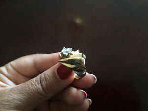 Brand New 10K Solid yellow Gold Ring Size 7-8