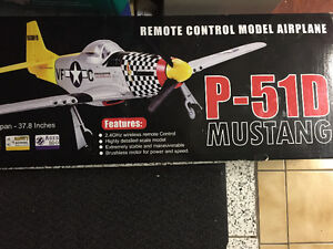 Remote control model airplane mustang M-51D hobby toy