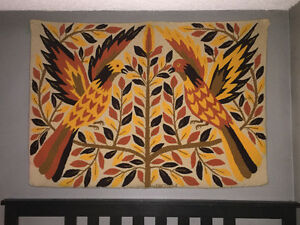 Vintage wool tapestry from 1970's