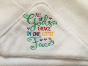 All God's Grace Infant Blankets: Soft Fleece with Hood