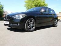 2015/15 BMW 116i SPORT 5 DOOR BLACK ONE OWNER BLACK NOW!