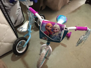 Kids frozen bikes