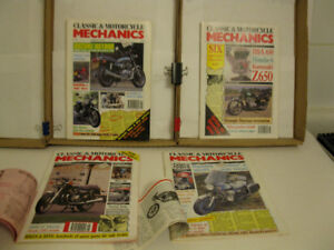 Classic & Motorcycle Mechanics (British) -- Four issues, early 9