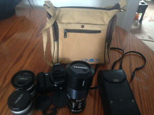 Estate Liquidation Minolta Camera And Assorted Lenses