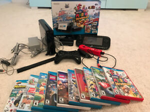 Nintendo Wii U delux bundle with consol and games
