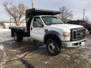 2010 Ford F-550 XL Pickup Truck Diesel 4x4 12 FT Bd Hydraulic