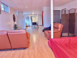 1 min Metro Jolicoeur Big Loft 800 sf Furnished  Parking  w/d
