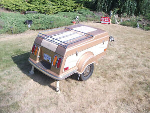Tiny Mite motor cycle camper trailer