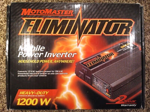 Motomaster Eliminator mobile power inverter 1200 watts NEW