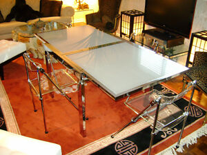 Chrome/glass extension table Kitchener / Waterloo Kitchener Area image 2