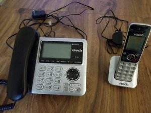 phone with answering machine & cordless handset