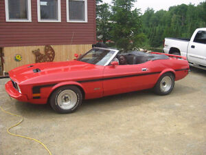 1973 red mustang convertable