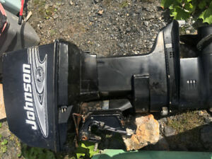 2001 Johnson outboard and controls to trade