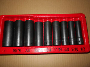"IMPACT SOCKETS  BRAND NEW 1/2"" SNAP ON TOOL ""WHAT A DEAL"""