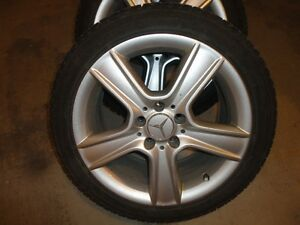 "Michelin XI3 Winter Tires 225/45R17 on 17"" Mercedes CClass Rims"