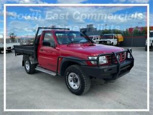 2005 Nissan Patrol GU II ST Red 5 Speed Manual Cab Chassis