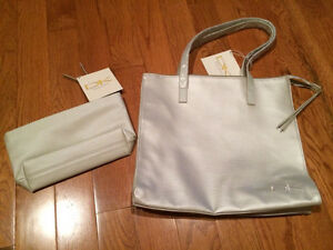 Donna Karen purse and cosmetic bag