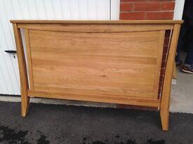 Solid oak wooden headboard for double bed
