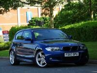 BMW 120D 2008MY M Sport 3 Door..XENONS + HEATED LEATHER + FRONT+REAR SENSORS