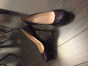 3efe27d504b2 Brand new Brown s couture purple patent leather pumps - size 38