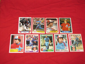 Expos Hall of Famers Gary Carter & Andre Dawson (22 cards)