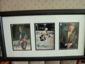 mario lemieux-glen sather and brian trottier autograph Kitchener / Waterloo Kitchener Area image 3