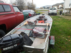 Misty river boat mercury 9.9 motor and trailer