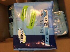TENA pants xsmall plus 14 pack